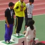 男子三段跳表彰式