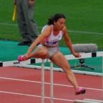 100mHに出場した熊谷史子選手