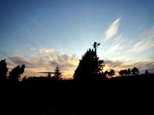 北翔大学から見えた夕焼け