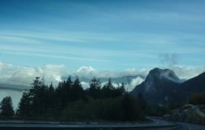 車窓から見たカナダの景色