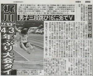 中日スポーツ2010年5月16日12面