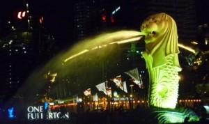 シンガポールと言えばマーライオン!!