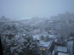 三重大雪景色